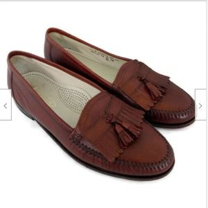 Florsheim brown casual leather tassel loafers 11 D